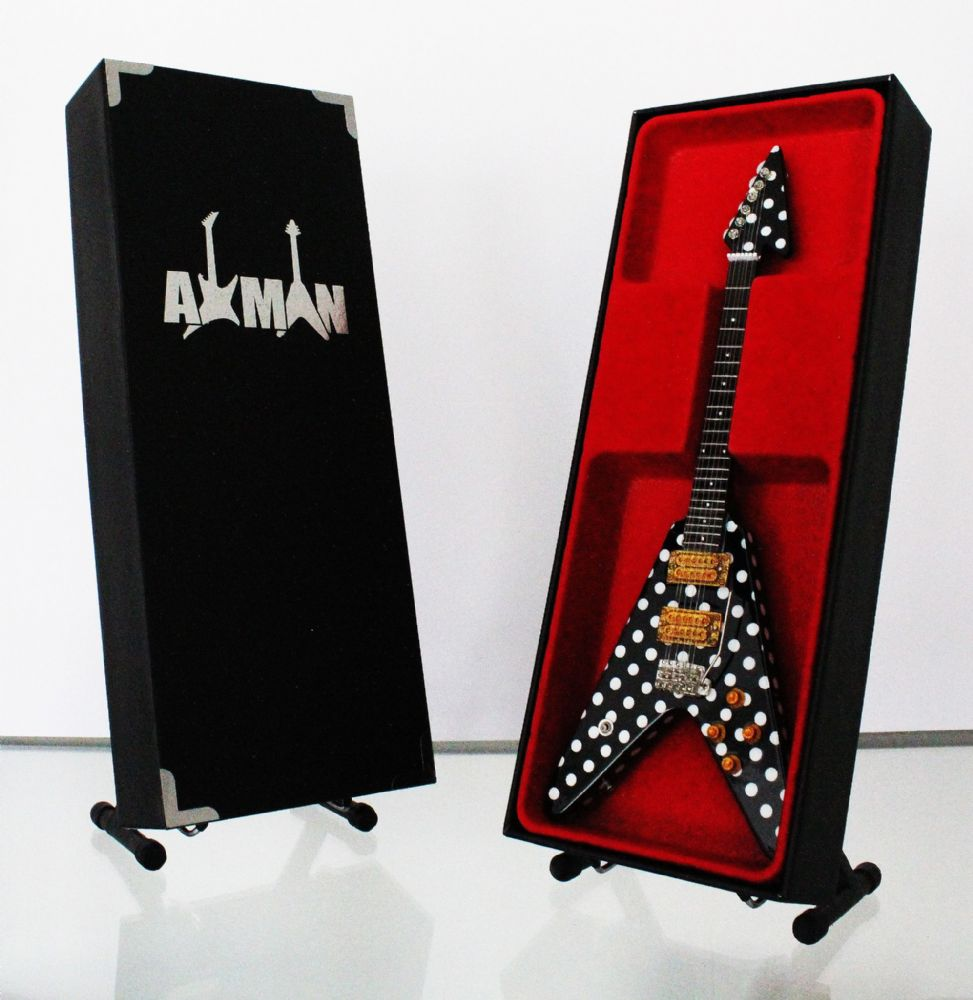 (Quiet Riot) Randy Rhoads: Flying-V - Miniature Guitar Replica (UK Seller)